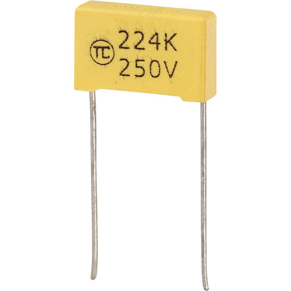 MKS-folijski kondenzator, radijalno ožičen 0.22 µF 250 V/DC 5 % 15 mm (D x Š x V) 18 x 5 x 11 mm 1 kos