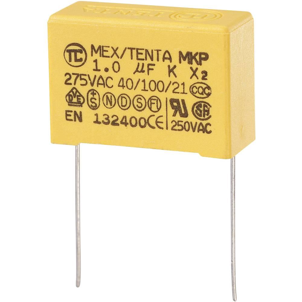 MKP-X2-Radijski kondenzator za uklanjanje smetnji, radijalno ožičen 1 µF 275 V/AC 10 % 27.5 mm (D x Š x V) 32 x 13 x 23 mm