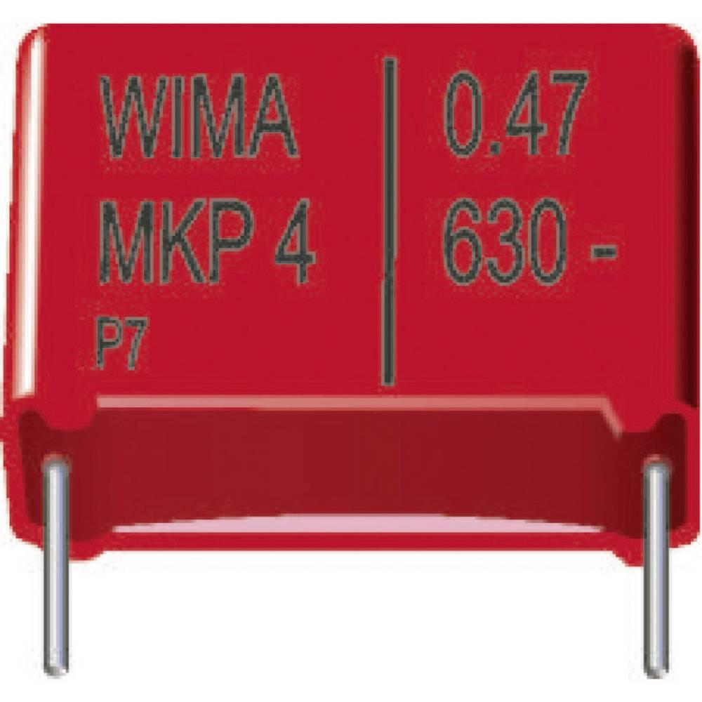 MKP-folijski kondenzator, radijalno ožičen 0.22 µF 630 V/DC 20 % 22.5 mm (D x Š x V) 26.5 x 7 x 16.5 mm Wima MKP4J032205D0