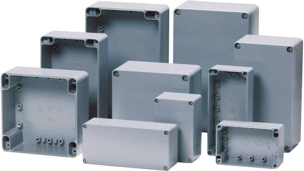 Universalkabinet 330 x 230 x 180 Aluminium Sølvgrå (RAL 7001) Fibox ALN 233318 1 stk