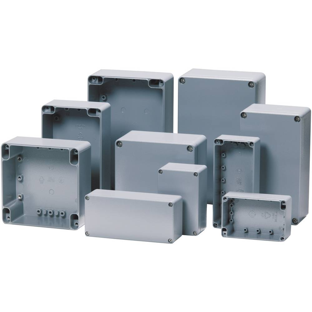 Universalkabinet 230 x 200 x 110 Aluminium Sølvgrå (RAL 7001) Fibox ALN 232011 1 stk
