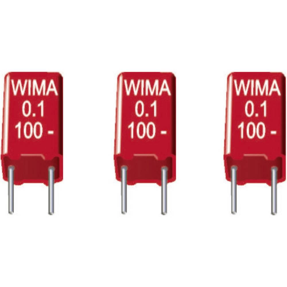 MKS-folijski kondenzator, radijalno ožičen 0.015 µF 63 V/DC 20 % 5 mm (D x Š x V) 7.2 x 2.5 x 6.5 mm Wima MKS2C021501A00KS