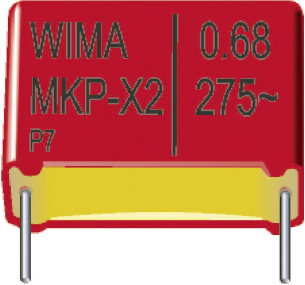 MKP-folijski kondenzator, radijalno ožičen 0.1 µF 630 V/DC 20 % 22.5 mm (D x Š x V) 26.5 x 7 x 16.5 mm Wima MKP1J031005D00