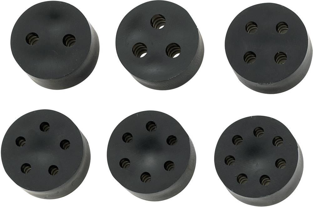 Tesnilni vložek za več kablov M20 guma črne barve KSS MH18-3E 1 kos