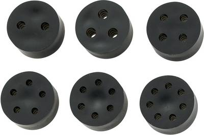 Image of Multi-seal inset M12 Rubber Black TRU COMPONENTS TC-MH9-2A203 1 pc(s)