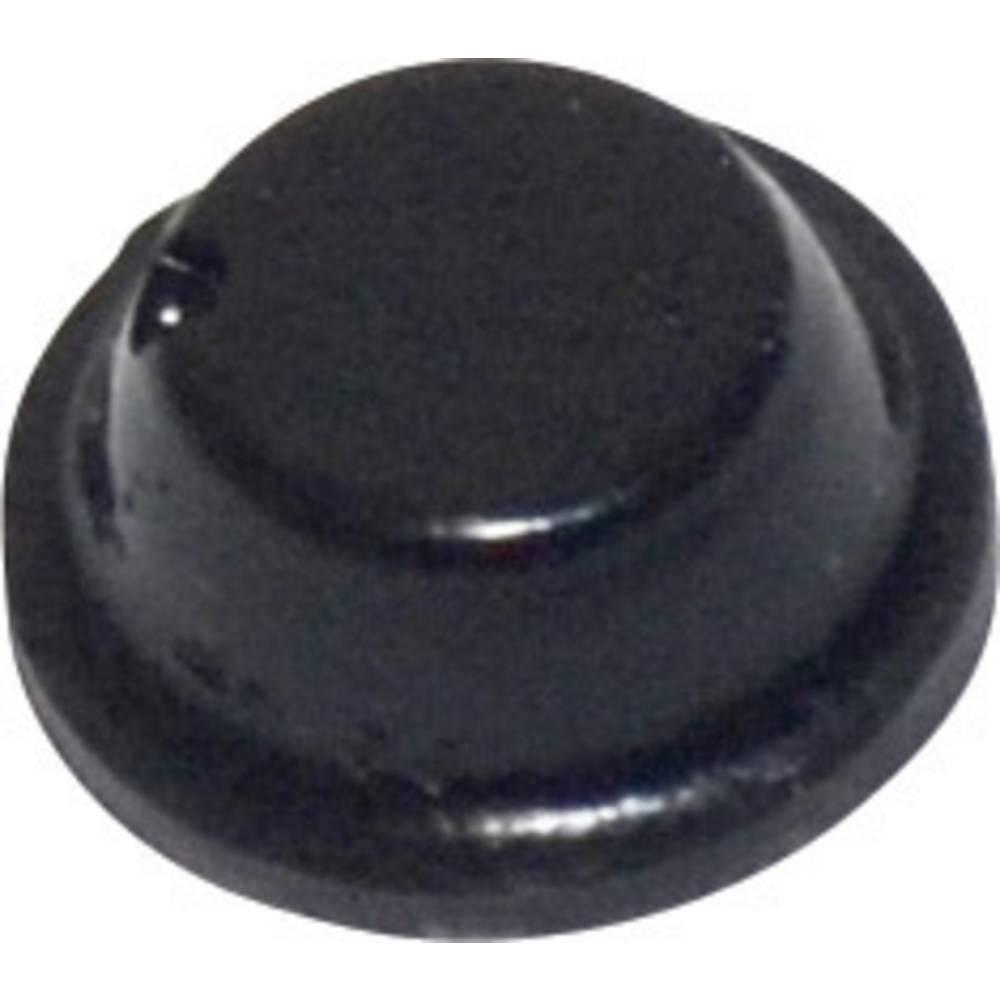TOOLCRAFT PD2075SW-Samoljepljiva nogica, 8x2.8mm, PU, crna