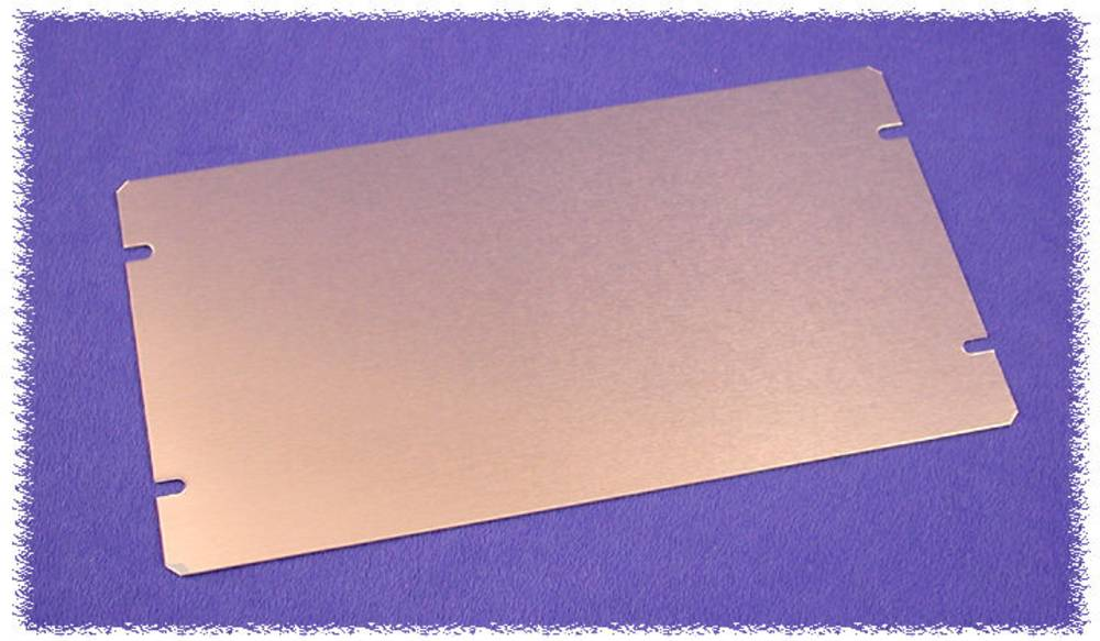 Bundplade 194 x 76 x 1 Aluminium Natur Hammond Electronics 1434-10 1 stk