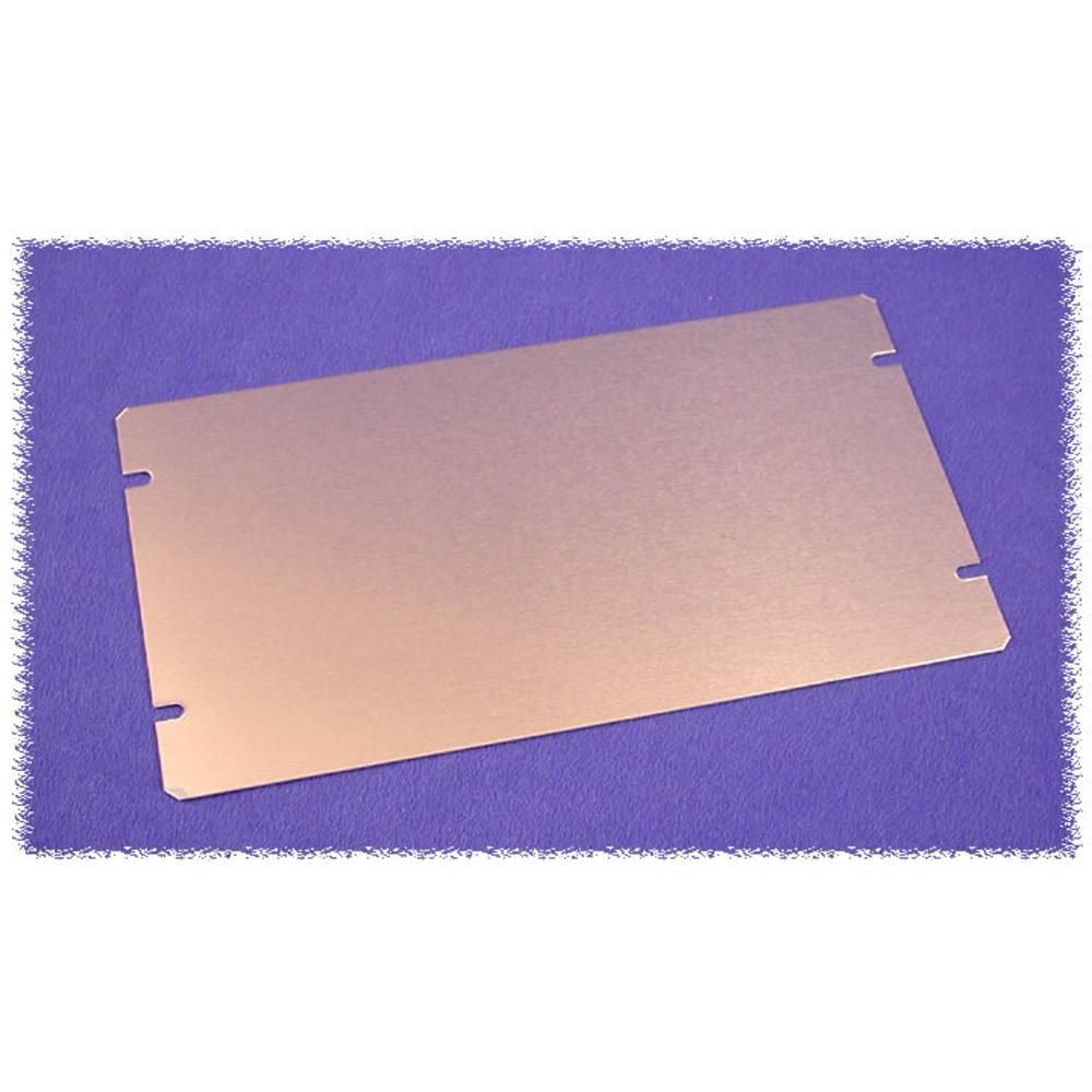 Bundplade 422 x 76 x 1 Aluminium Natur Hammond Electronics 1434-20 1 stk