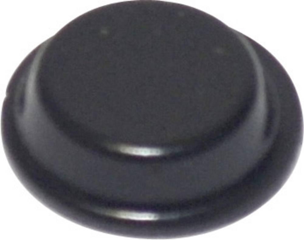 TOOLCRAFT PD2125SW-Samoljepljiva nogica, 12.7x3.5mm, PU, crna