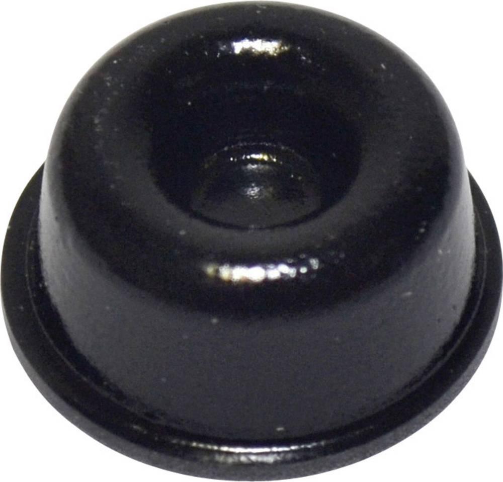 TOOLCRAFT PD2210SW-Samoljepljiva nogica, 22.3x10.1mm, PU, crna