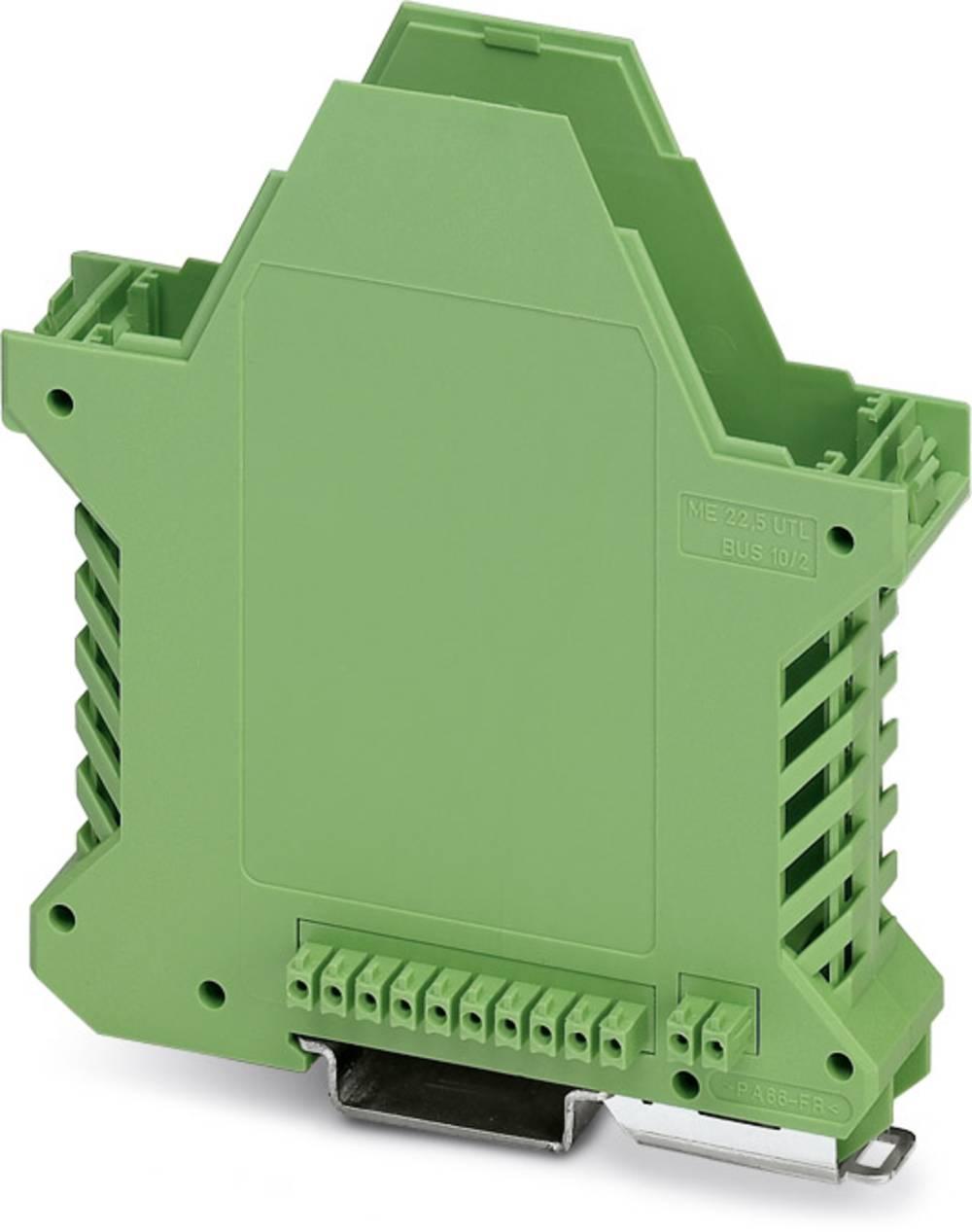 DIN-skinnekabinet underdel Phoenix Contact ME 22,5 UT/FE BUS/10+2 GN Polyamid 10 stk