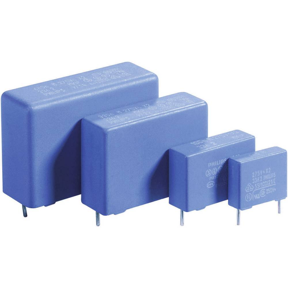 MKP-folijski kondenzator, radijalno ožičen 1 µF 275 V/AC 20 % 27.5 mm (D x Š x V) 31 x 13 x 23 mm 1 kos