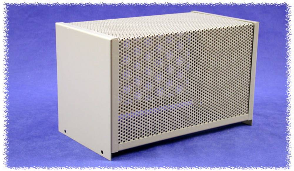 Dæksel til kabinet 406 x 203 x 132 Stål Grå Hammond Electronics 1451-26 1 stk