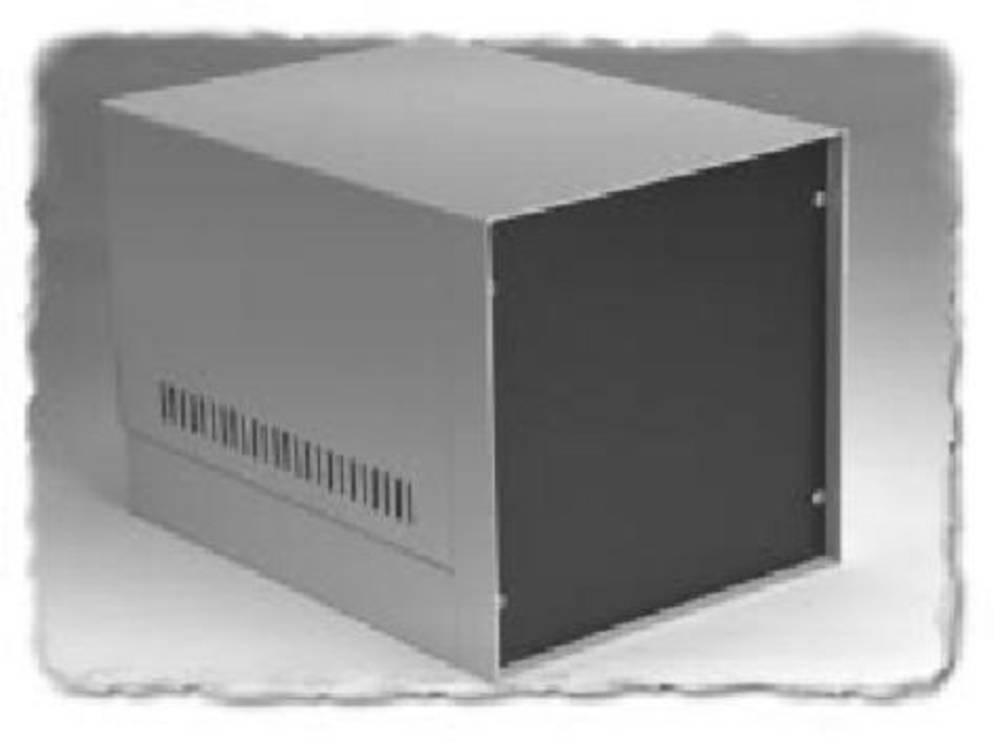 Instrumentkabinet 226 x 445 x 267 Stål Grå Hammond Electronics 1452PG9 1 stk