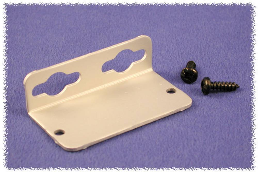 Vægholder Hammond Electronics 1455CFBK 1455CFBK Aluminium Sort 1 pair