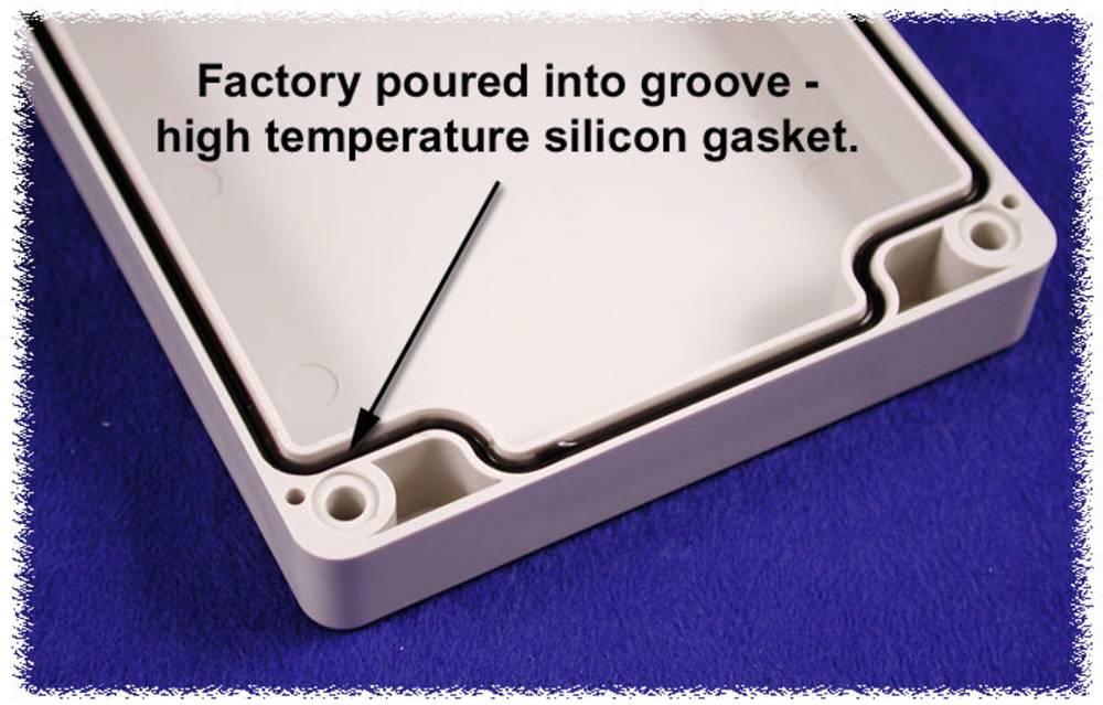 Tætning Hammond Electronics 1554EGASKET 1554EGASKET Silikone Sort 2 stk