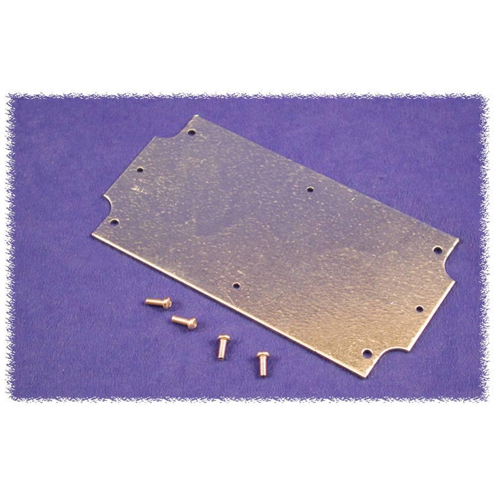 Monteringsplade Hammond Electronics 1555CFPL (L x B x H) 108 x 52 x 1.6 mm Stålplade Natur 1 stk