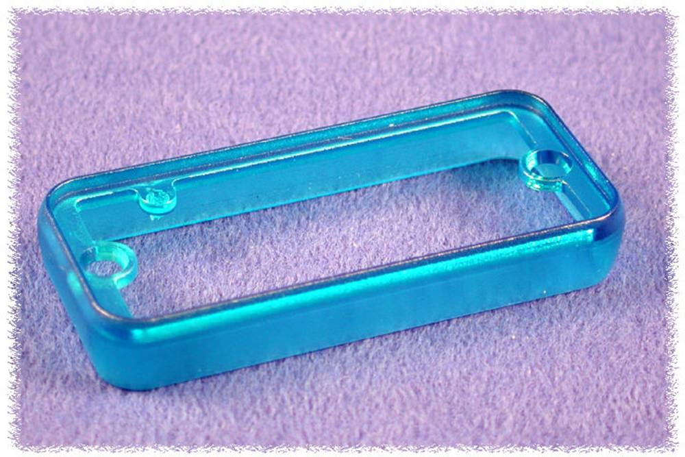 Rammer Hammond Electronics 1455LBTBU-10 (L x B x H) 8 x 103 x 30.5 mm ABS Blå (transparent) 10 stk