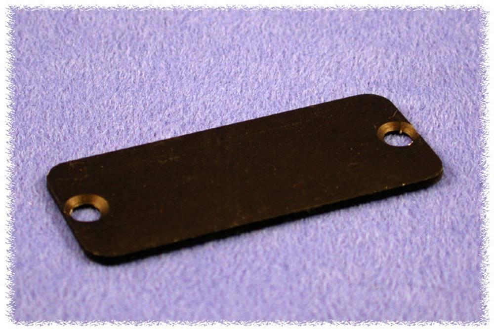 Endeplade Hammond Electronics 1455DALBK-10 (L x B x H) 1.5 x 45 x 25 mm Aluminium Sort 10 stk