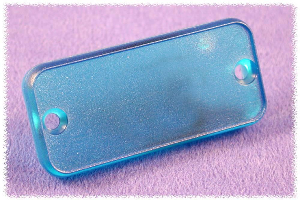 Endeplade Hammond Electronics 1455LPLTBU (L x B x H) 8 x 103 x 30.5 mm ABS Blå (transparent) 2 stk