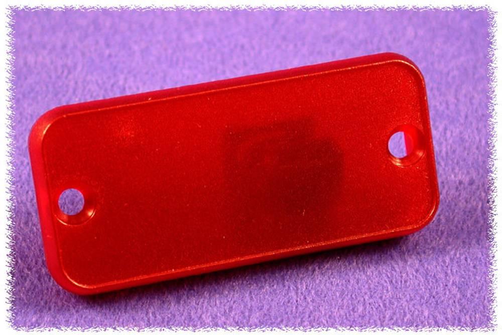 Endeplade Hammond Electronics 1455RPLTRD-10 (L x B x H) 8 x 160 x 30.5 mm ABS Rød (transparent) 10 stk