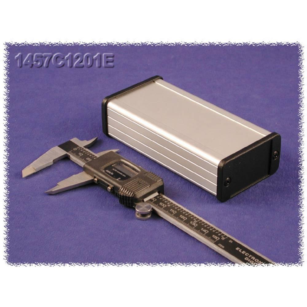 Universalkabinet 120 x 59 x 31 Aluminium Sort Hammond Electronics 1457C1202EBK 1 stk