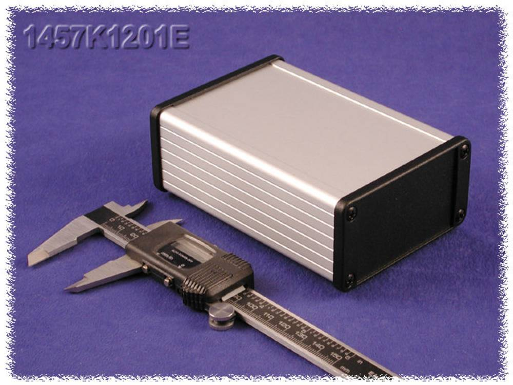 Universalkabinet 120 x 84 x 28.5 Aluminium Sort Hammond Electronics 1457J1201EBK 1 stk