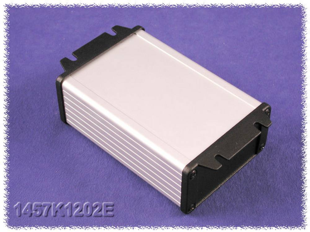 Universalkabinet 160 x 84 x 28.5 Aluminium Sort Hammond Electronics 1457J1602EBK 1 stk