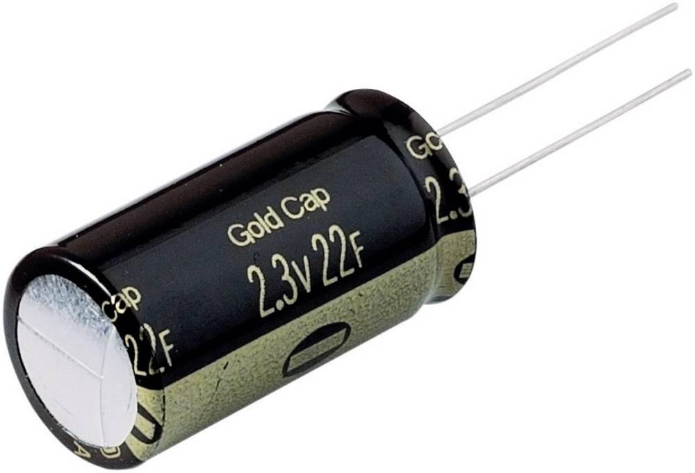 Gold Cap 2.3 V 22 F raster 7.5 mm
