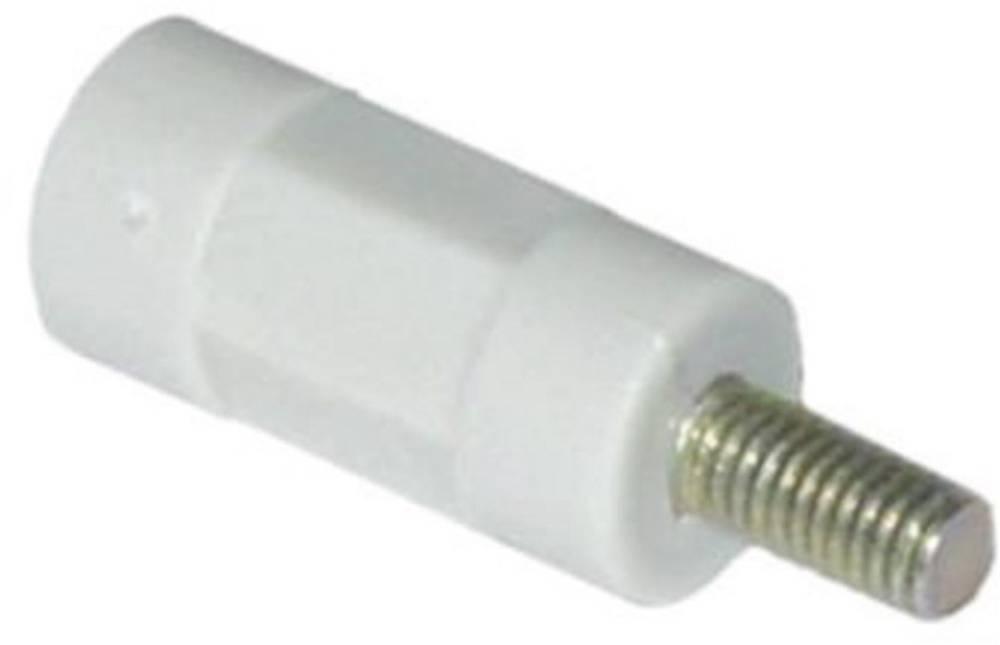Isolerende distancebolte Polystyren hvid-grå, gevindindsatser galvaniseret stål M3 Længde: 25 mm 1 stk