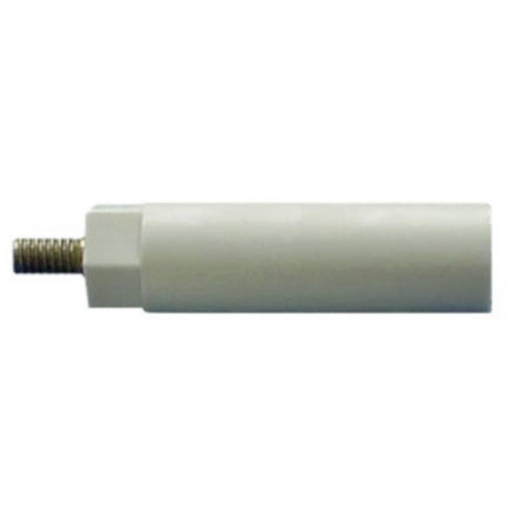 Isolerende distancebolt (L) 10 mm M4x7 mm Polyester, Stål verzinkt 4S10 1 stk