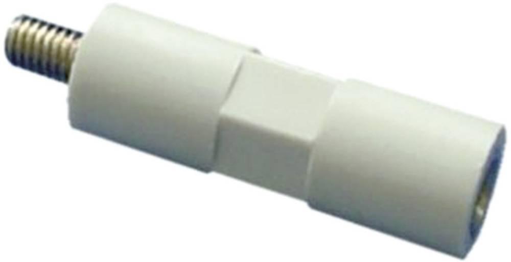 Izolirani distančnik iz polistirena belo-siv, navojni vložek pocinkano jeklo M4 dolžina: 40 mm 1 kos 4S40