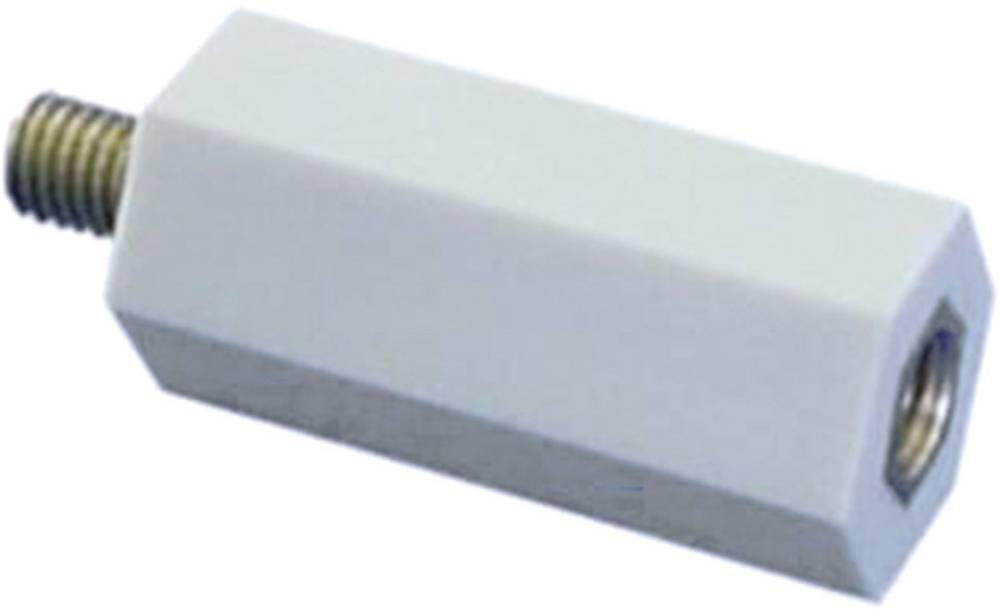 Isolerende distancebolt (L) 20 mm M6x7 mm Polyester, Stål verzinkt 6S20 1 stk