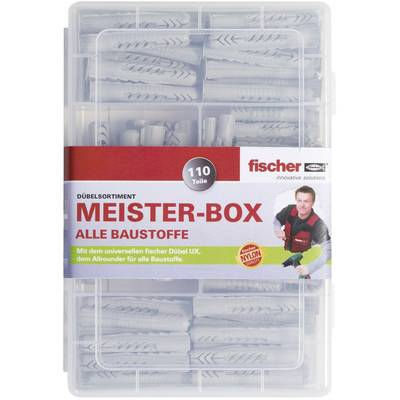 Fischer Meister-Box UX/UX R Assorted dowels 513893 110 Parts