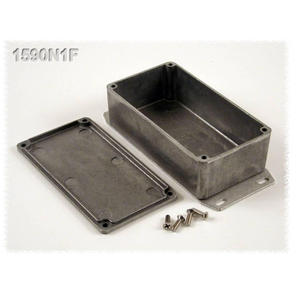 Universalkabinet 121.1 x 66 x 39.3 Aluminium Sort Hammond Electronics 1590N1FBK 1 stk