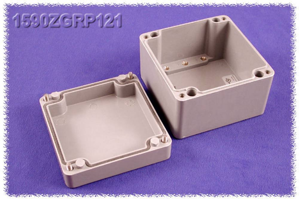 Universalkabinet 120 x 122 x 91 Polyester Grå Hammond Electronics 1590ZGRP121 1 stk