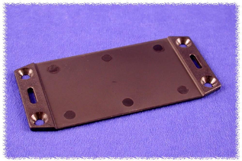 Flangeplade Hammond Electronics 1591FBBK (L x B) 137 mm x 59 mm ABS Sort 1 stk
