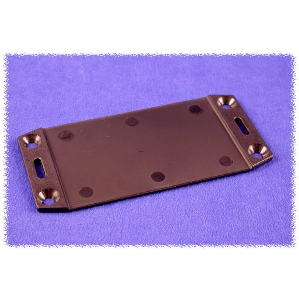 Flangeplade Hammond Electronics 1591FEBK (L x B) 220 mm x 107 mm ABS Sort 1 stk