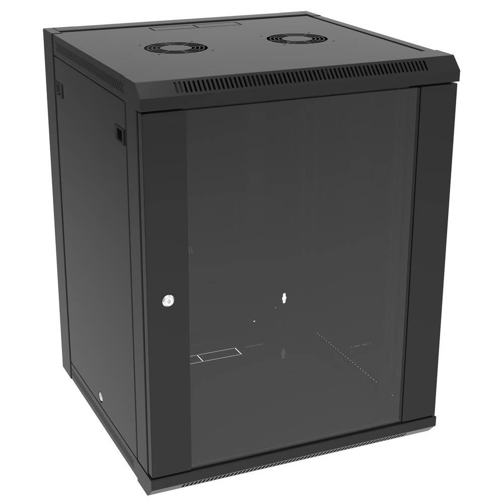 19 tommer installationskabinet Hammond Electronics RB-FW12 Stål Sort 1 stk