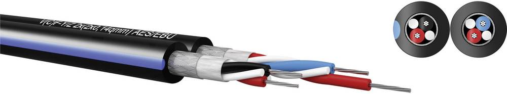 Digitalni kabel 2 x 2 x 0.14 mm črna Kabeltronik 990401400 metrsko blago