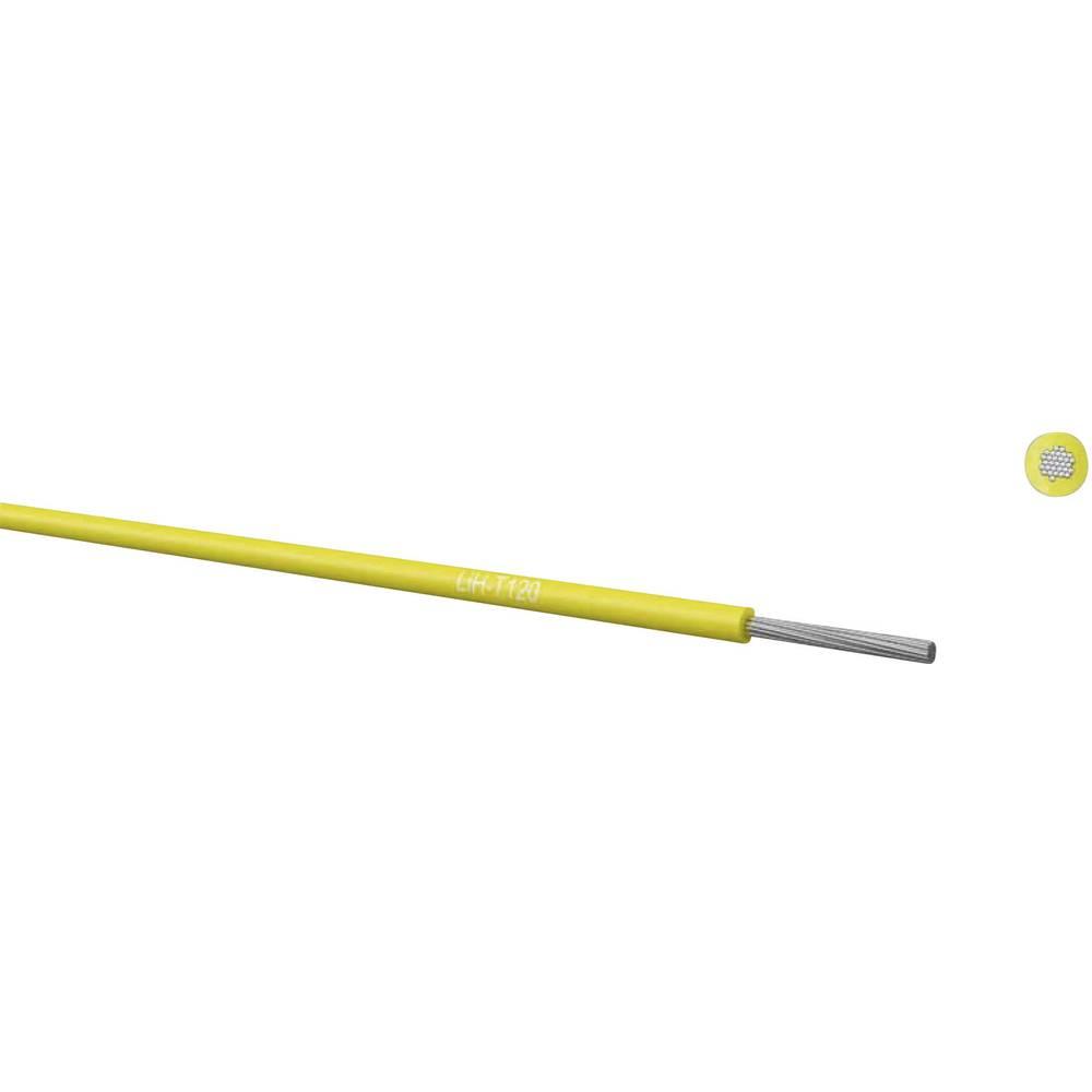 Finožični vodnik LiH-T 1 x 1 mm rjave barve Kabeltronik 65010002 meterski