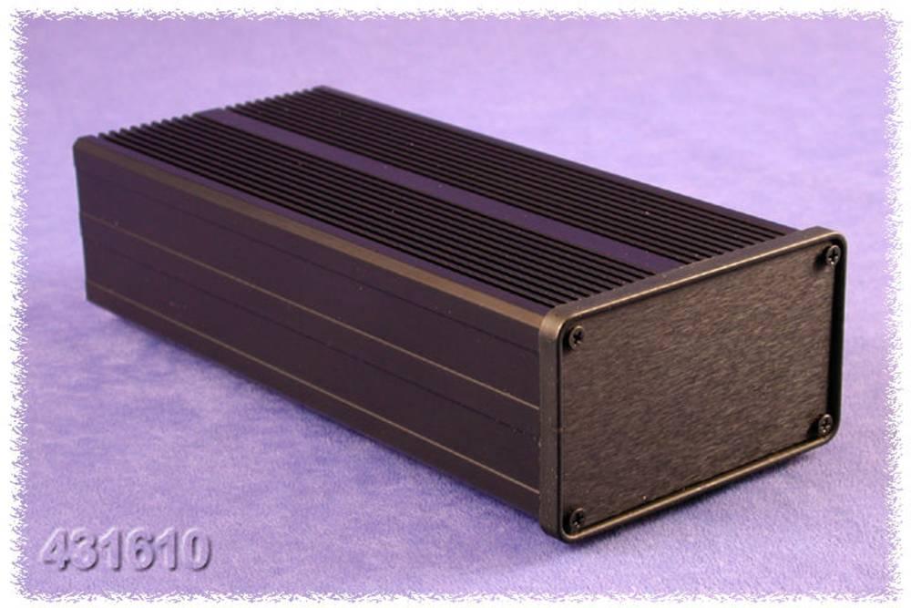 Kølelegeme-kabinet 150 x 90 x 51 Aluminium Sort Hammond Electronics 431612 1 stk