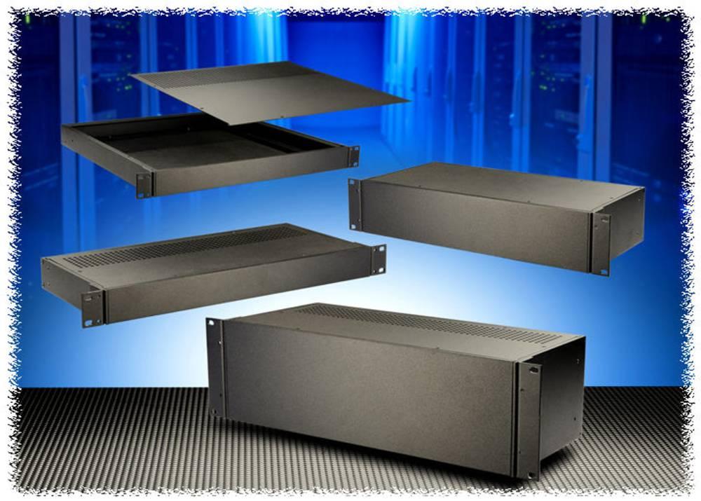 Universalkabinet 203 x 211 x 89 Aluminium Sort Hammond Electronics RM2U0808VBK 1 stk