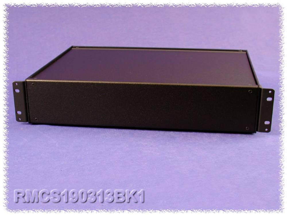 Universalkabinet 432 x 330 x 21 Aluminium Sort Hammond Electronics RMCS190113BK1 1 stk