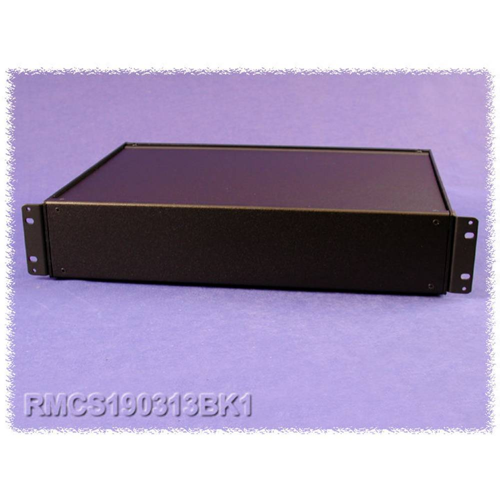 Universalkabinet 432 x 330 x 109 Aluminium Sort Hammond Electronics RMCS190513BK1 1 stk
