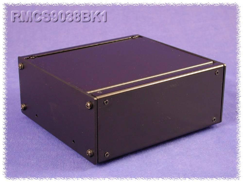 Universalkabinet 216 x 203 x 21 Aluminium Sort Hammond Electronics RMCV9018BK1 1 stk