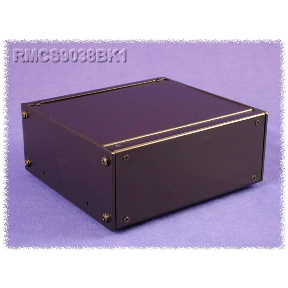 Universalkabinet 432 x 203 x 21 Aluminium Sort Hammond Electronics RMCV19018BK1 1 stk