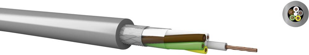 Krmilni kabel LiYCY 4 x 0.14 mm sive barve Kabeltronik 20401400 meterski