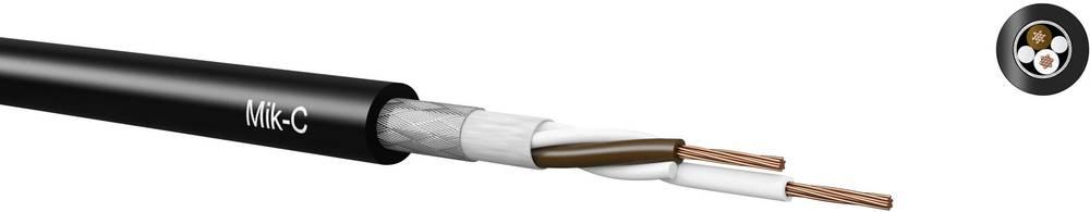Mikrofonski kabel 2 x 0.14 mm črna Kabeltronik 480201409 100 m