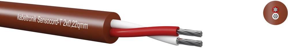 Senzorski kabel Sensocord® 4 x 0.22 mm rdeče barve-rjave barve Kabeltronik 244042200 meterski